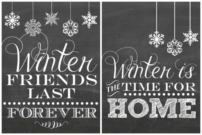 10x gratis winter printables