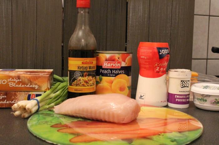 recept met kip en perzik