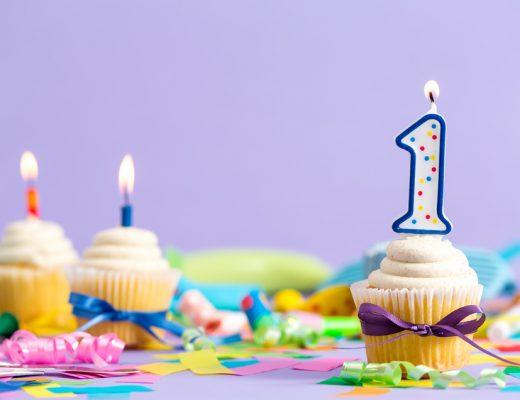 denken aan eerste verjaardag kind
