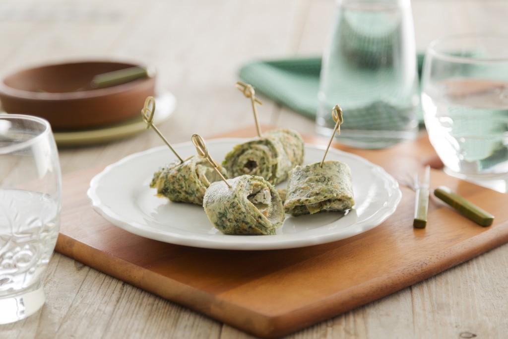 volkoren-pannenkoekrolletjes-met-spinazie-kruidenroomkaas
