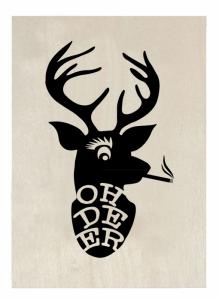 houten-kerstkaart-oh-deer