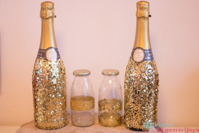 perfect cadeau kerst glitter champagne