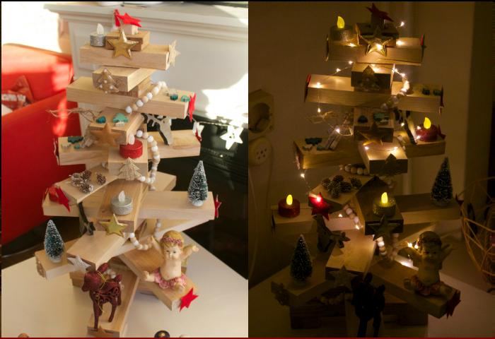 houten kerstboom action