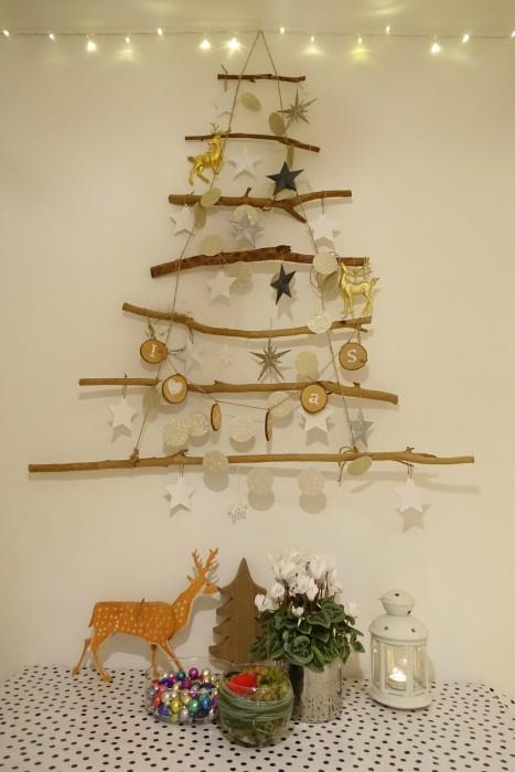 houten kerstboom takken