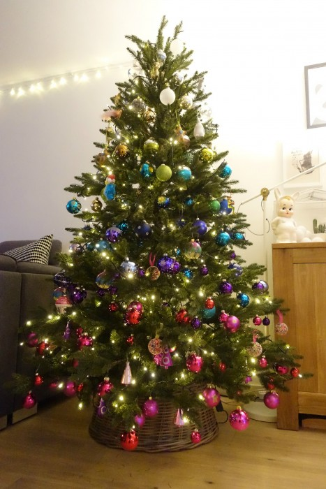 regenboog kerstboom