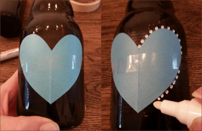 diy valentijn bierflesje