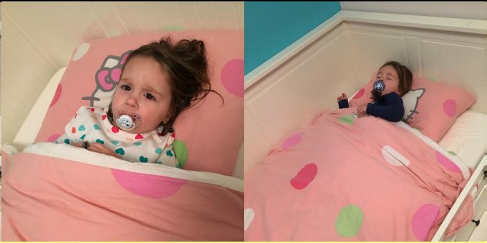 nieuwe bed dochter peuter