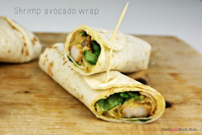 shrimp avocado lunchwrap