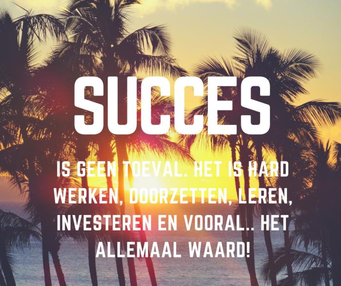 keihard werken voor succes