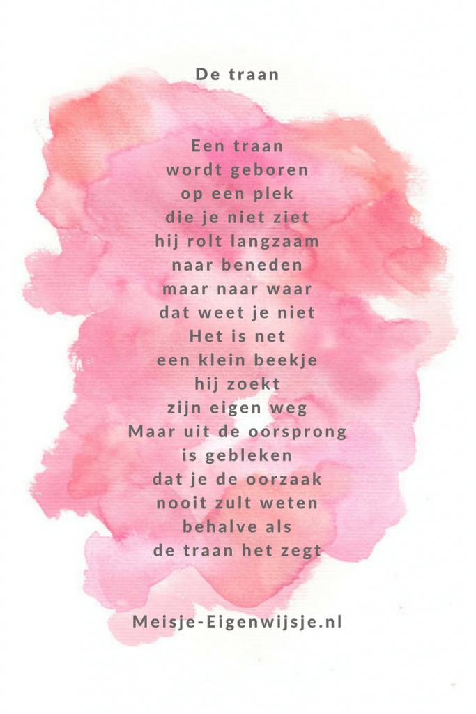 Genoeg Gedicht | Een traan - Meisje Eigenwijsje VK35