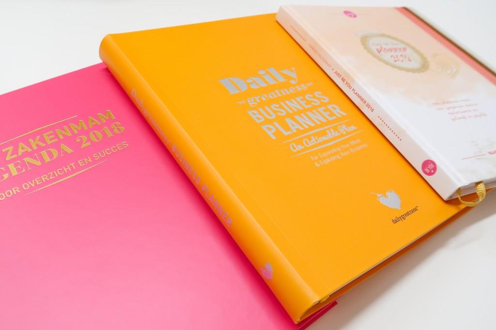 zakelijke planners voor ondernemers - purpuz planner - great business planner - paper time planner