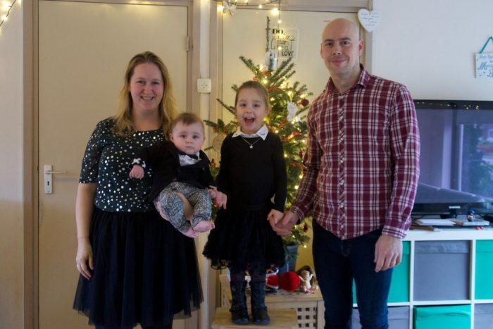kerstoutfit gezin baby meisje volwassenen