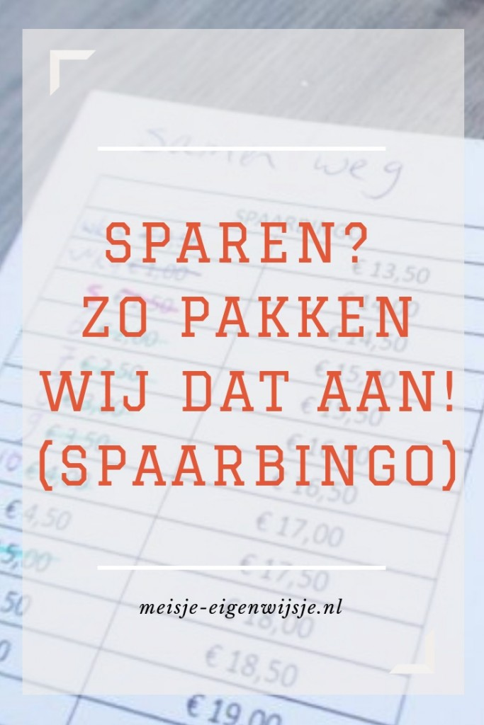 Spaarbingo - sparen? zo pakken wij dat aan