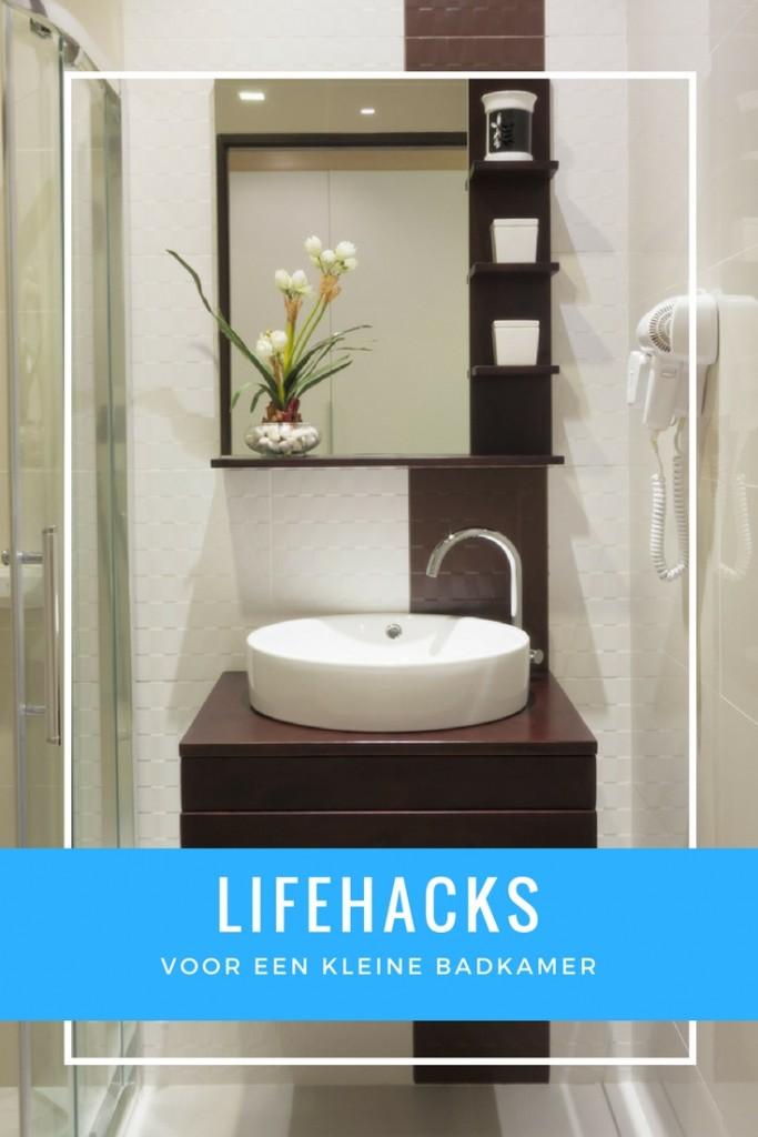 lifehacks kleine badkamer