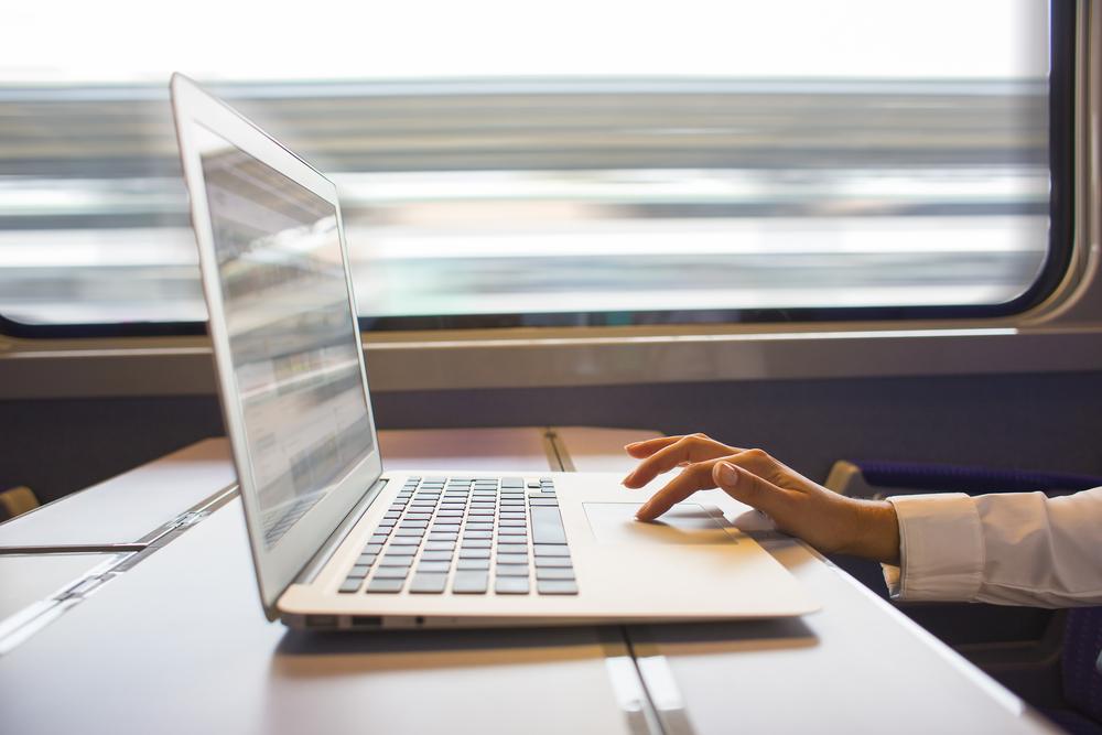 werken in de trein