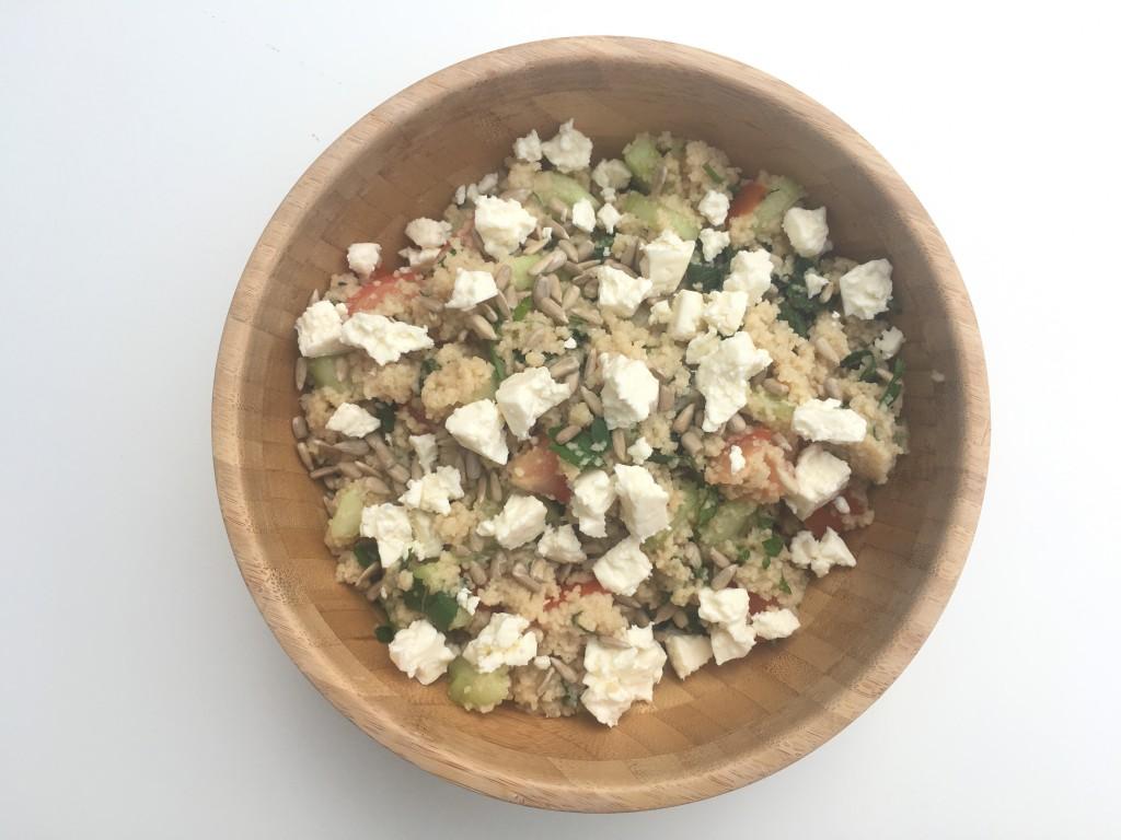 Kruidige couscous salade met komkommer