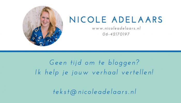 speciaal visitekaartje blogexpert