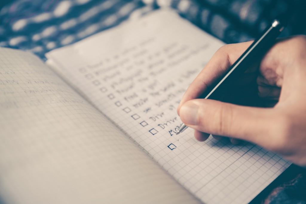 manieren notitieboekje gebruiken