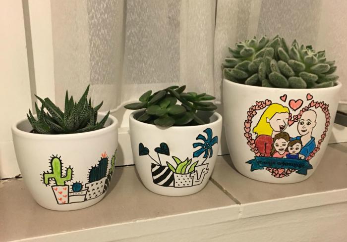 plantenpotjes kantoor