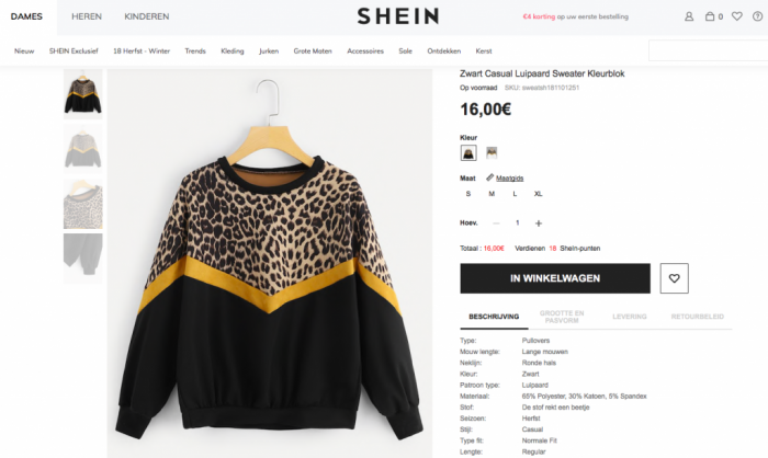 shein miskoop sweater