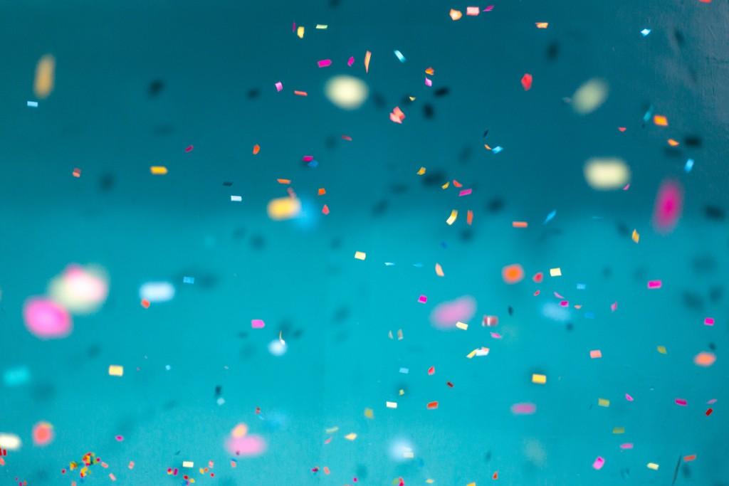 eerste kinderfeestje confetti