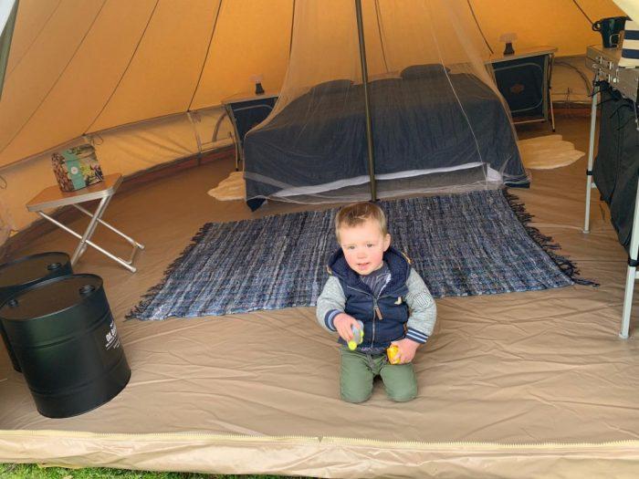 kamperen bell tent glamping